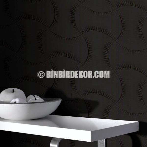 Duvar kağıtları konusunda bulunan siyah yemek odası duvar