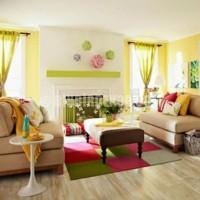 Renkli Oturma Odası Dekorasyonu