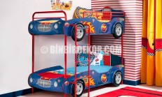 Araba Ranzalı Sıradışı Çocuk Odası (Çilek)