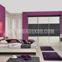 Mor Yatak Odası Dekorasyon Örnekleri /morden mor ve beyaz renklerle ...