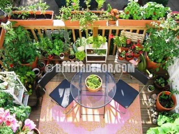 Küçük Balkonlar İçin Şık Dekorasyon Fikirleri