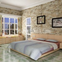... Interior Design Home Design Bedroom And Bedroom Sets With Stone Wall
