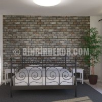 Bedroom Stone Wall - www.photowall.no