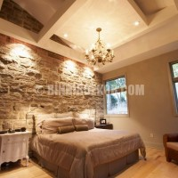 with Natural Stone Wall Decorating : Beautiful Bedroom Stone Wall ...