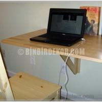 Duvara monte bilgisayar masası