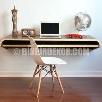duvara monte katlanır bilgisayar çalışma masası mobilya modelleri