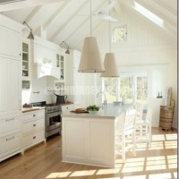 This antique white kitchen, designed by interior designer Lisa ...