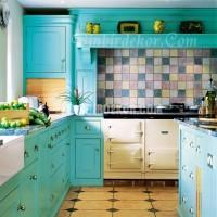 En Son mutfak duvar renkleri turkuaz Turkuaz Duvar Boyaları.  Fikirleri