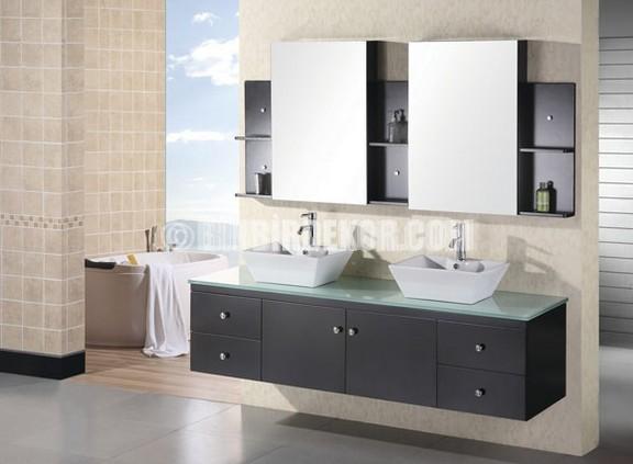Çift Lavabolu Banyo Dolabı Modelleri 2015