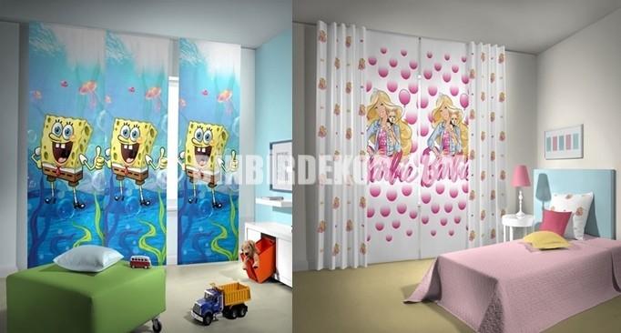 Çocuk Odası İçin Pano Perde Modelleri