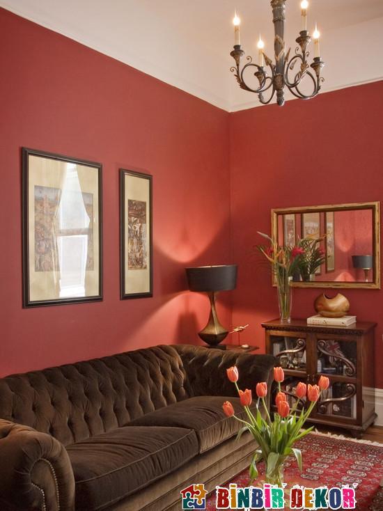 farbe wohnzimmer 2016:Red Wohnzimmer Dekoration 2016 Living Room Dekorieren Farbe › Binbir