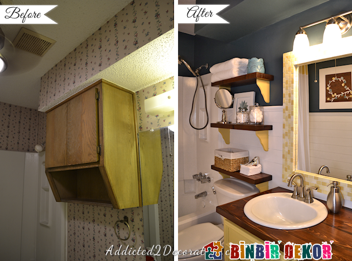 Ugly Bathroom Decorating Ideas : Bathroom makeover before and after decoration