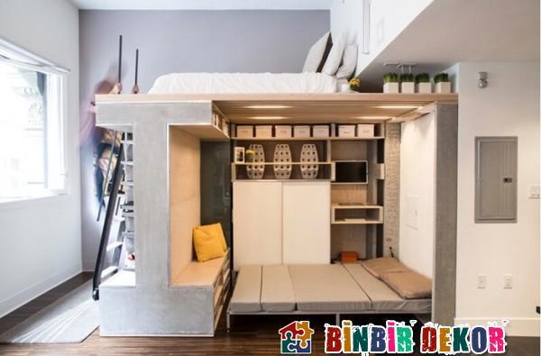 Dar Evler İçin En Güzel Fonksiyonel Mobilya Tasarımları