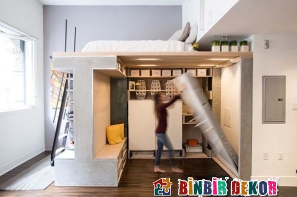 Fonksiyonel Katlanabilir Yatak Tasarımları Dar Evler İçin Mobilya Modelleri