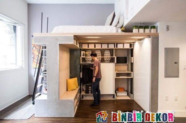 Stüdyo Daireler İçin Fonksiyonel Mobilya Tasarımları 2016