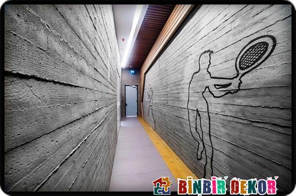 Beton Duvar Dekorasyon Örnekleri ve Postmodern Dekorasyon Fikirleri