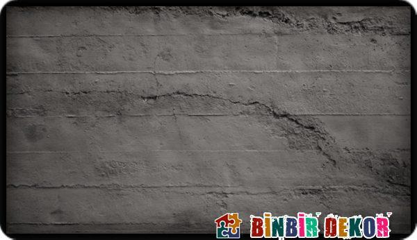 Brüt beton görünümlü strafor ve fiber duvar panellerinden örnekler