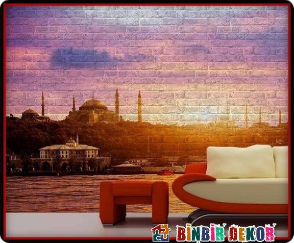 Dekoratif Duvar Panelleri ve İstanbul Gün Batımı Resimli Duvar Kaplama Örnekleri