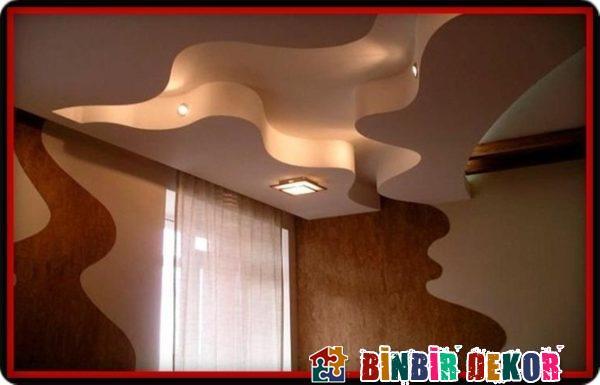 Işıklı Asma Tavan Tasarımları ile Salon Asma Tavan Modellerinden Örnekler