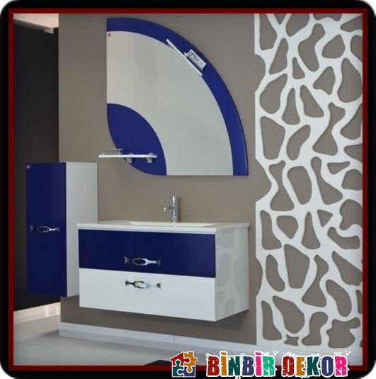 Modern Lavabolu Banyo Dolabı Modelleri ve Biancoa Yeni Banyo Dolabı Modelleri