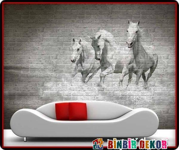 Yaratıcı Duvar Dekorasyon Fikirleri Resimli Taş Duvar Panelleri Örnekleri