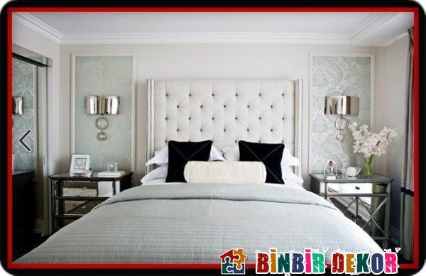 Yatak Odası Dekorasyon Fikirleri ve Çerçevelenmiş Duvar Kağıdı Dekorasyon Örnekleri