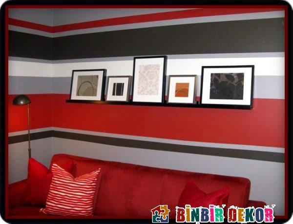 Çizgili Duvar Dekorasyon Örnekleri ve Duvar Boyama Püf Noktaları