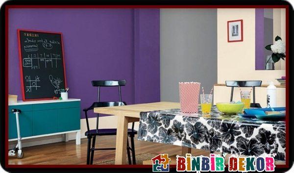Değişik Duvar Rengi Örnekleri ve Modern Duvar Rengi Kombinasyonları