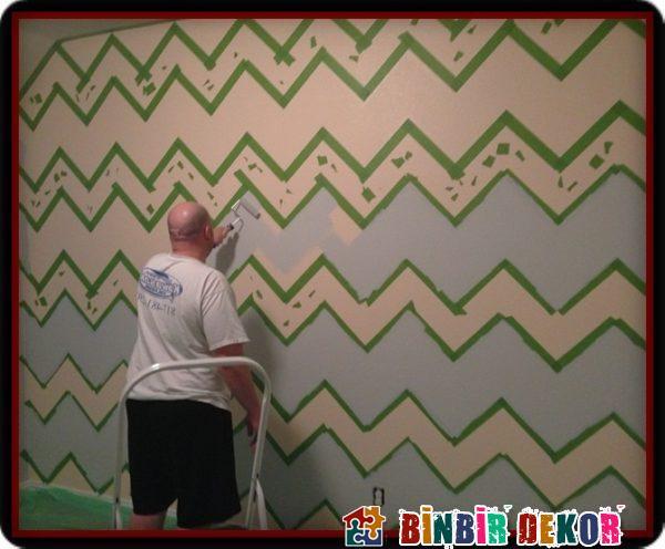 Duvarları Çizgili Boyamak İçin Duvar Boyama Önerileri