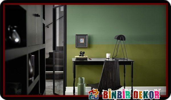 Yeşil Duvar Boya Renkleri ve Ev Dekorasyonunda Birbirine Uyumlu Duvar Rengi Kombinleri
