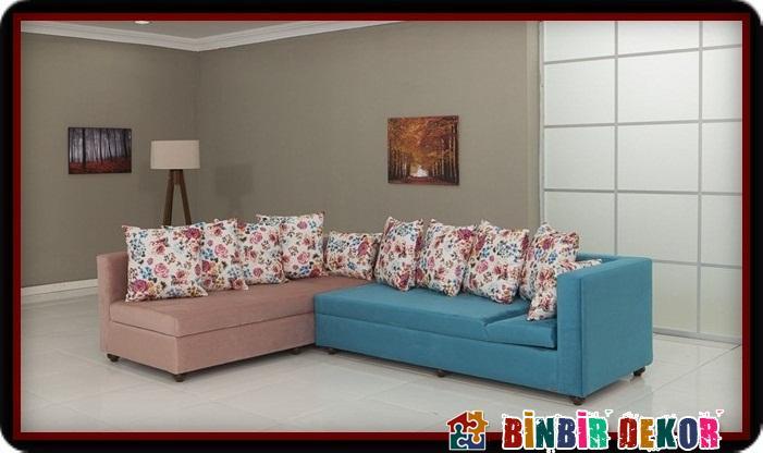 En Güzel İki Renkli Köşe Koltuk Takımları ile Modalife Med Köşe Takımı