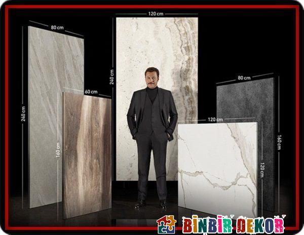 Kütahya Seramik 120X240 Seramik Fayans Modelleri ile Büyük Ebatlı Seramik Yer ve Duvar Karoları