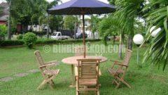 Şemsiyeli Bahçe Masa Sandalye Seti (TEKZEN)