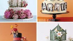 Modern Düğün Pastası Örnekleri