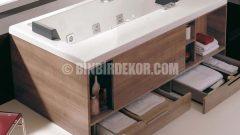 Yenilikçi Banyo Mobilyaları: Çekmeceli Küvet