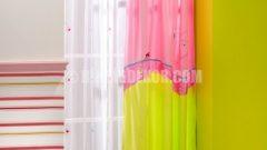 Çilek genç odası perde modelleri 2012