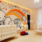 Bebek odası için duvar kağıtları