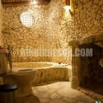 Banyo duvar dekorasyonunda doğal taş