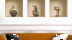 3D niş görünümlü dekoratif duvar panoları