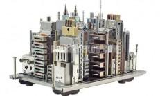 Bilgisayar parçalarından şehir maketleri