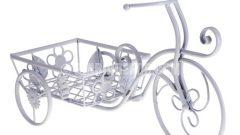 Bisiklet görünümlü ferforje çiçeklikler