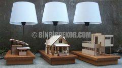 Minyatür evlerden yaratıcı aydınlatmalar