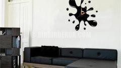 Dekoratif sticker duvar saatleri