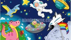 Çocuk odası için LED ışıklı tablolar