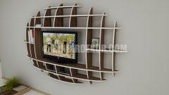 Modern elips TV ünitesi