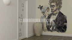 Fantastik resimlerle duvar dekorasyonu