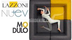 Lazzoni 'den ultramodern köşe koltuk (Modulo)