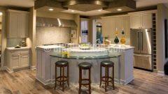 Mutfak dekorasyonu için şık asma tavanlar