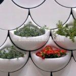 Çok dekoratif saksılı duvar seramikleri