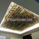 Tavanlarda dekoratif taş panel uygulamaları
